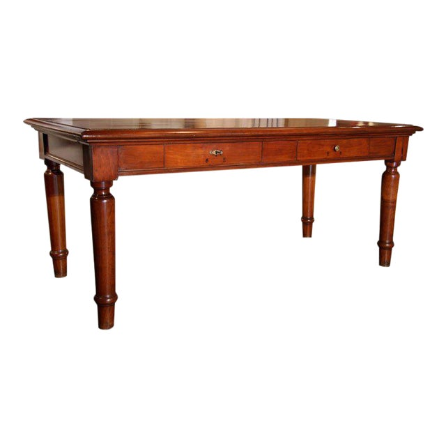Italian Table in cherry wood. 1920s For Sale