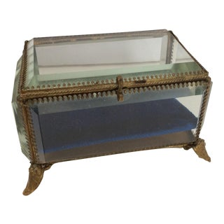Antique French Crystal Display Box For Sale