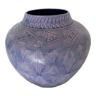1990s Lavender Ceramic Southwest Pottery Vase For Sale