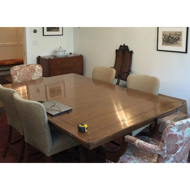 Wood Pickwick Mahogany Dining Table For Sale - Image 7 of 7