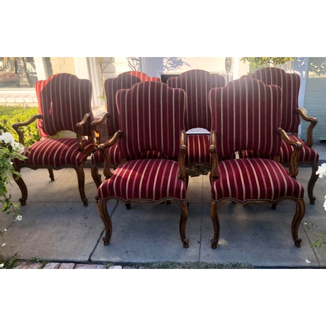 Minton-Spidell Minton Slidell Regence French Regency Dining Chairs - Set of 6 For Sale - Image 4 of 9