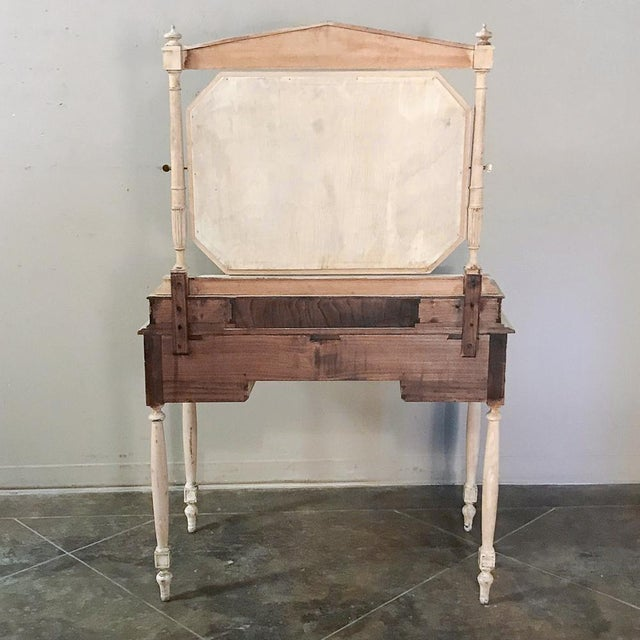 19th Century French Louis XVI Painted Vanity For Sale - Image 12 of 13