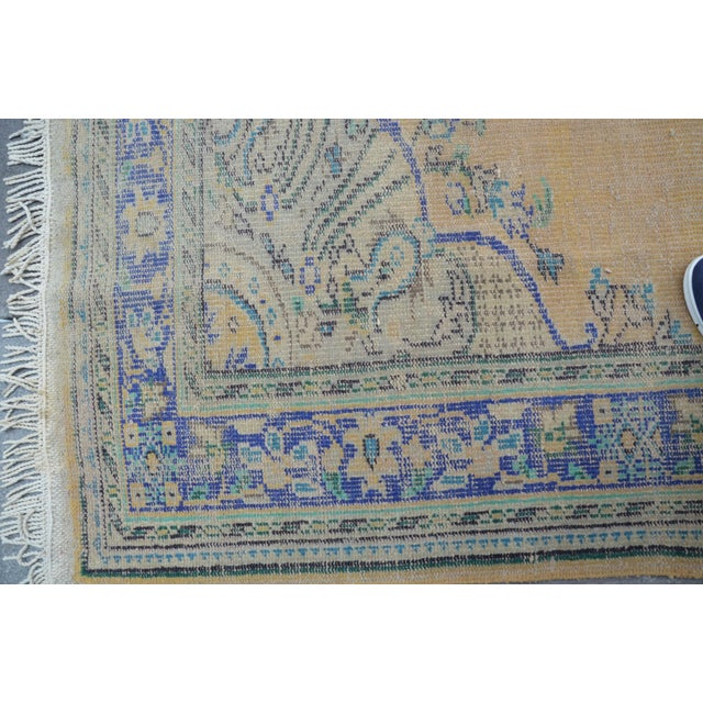 """Oversize Oushak Antique Faded Rug - 6'2"""" x 9'2"""" For Sale - Image 6 of 6"""