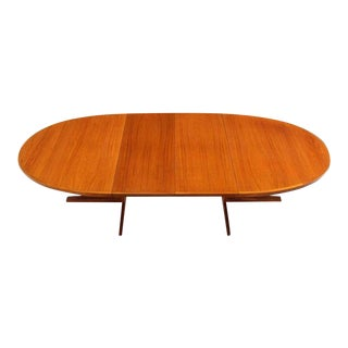 Mid Century Modern Danish Teak Dining Table For Sale