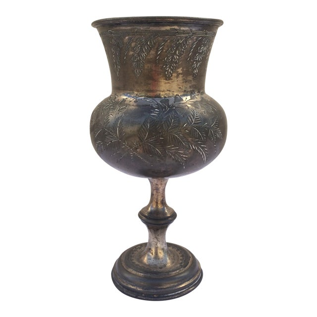 Antique Silver Plate Chalice For Sale