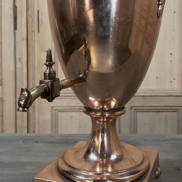 Brass 19th Century Copper & Brass Tea Server For Sale - Image 7 of 11