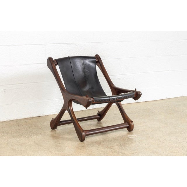 Black Mid Century Mexican Modern Don Shoemaker Sling Chair For Sale - Image 8 of 10
