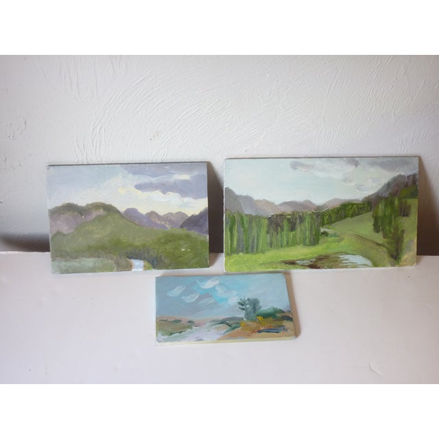 Masonite Late 20th Century Susan Scott Oil Sketch Paintings - Set of 3 For Sale - Image 7 of 7