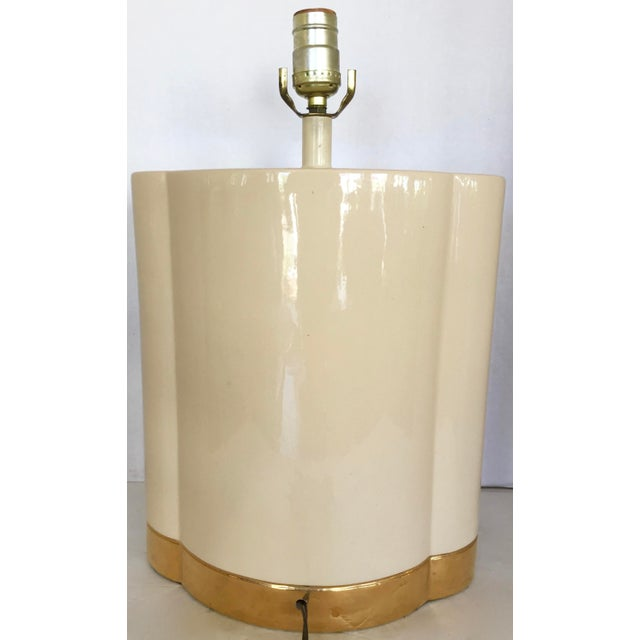 Gold and Beige Ceramic Table Lamp - Image 7 of 7
