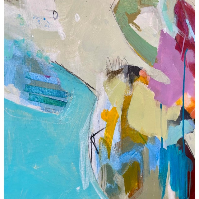 """Abstract """"Bigger on the Inside"""" Original Mixed Media Painting by Gina Cochran For Sale - Image 3 of 9"""