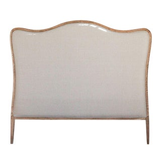 Oak Upholstered Headboard (King Size) For Sale