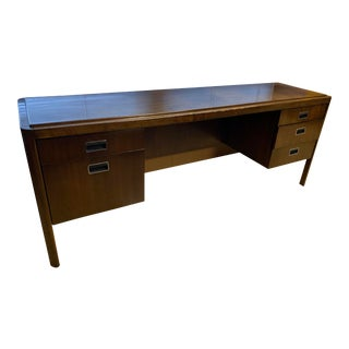 Vintage Mid-Century Modern Glenn Furniture Acacia Desk For Sale