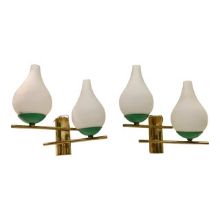 Italian Brass & Metal & Glass Sconces