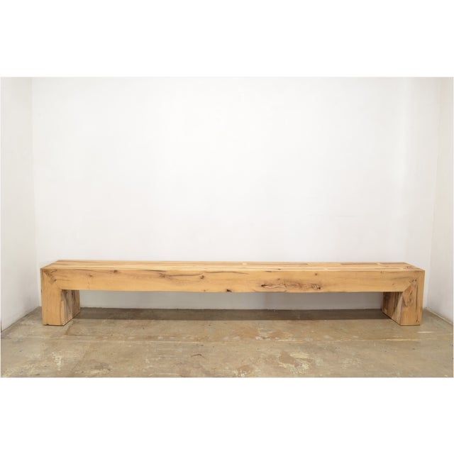 Not Yet Made - Made To Order OZShop Antique Oak Beam Waterfall Bench For Sale - Image 5 of 5