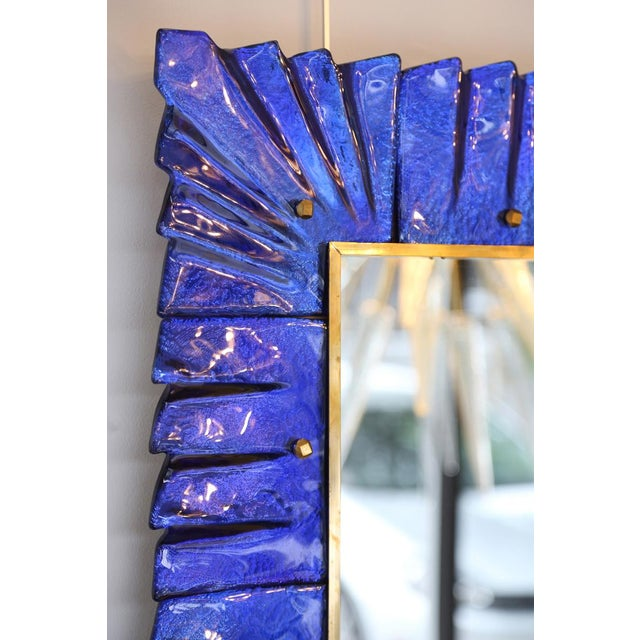 Baroque Cobalt Blue Murano Glass Mirror For Sale - Image 4 of 4