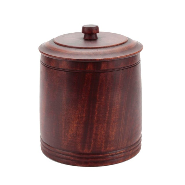 Mid 20th Century Mid-Century Hand-Turned Vintage Walnut Ice Bucket by Mort N. Marton For Sale - Image 5 of 5