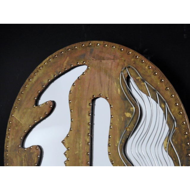 Abstract Modern Design Oval Mirror - Image 3 of 5