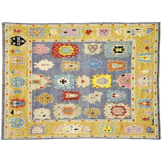 Contemporary Oushak Inspired Area Rug - 9′3″ × 12′5″ For Sale In Dallas - Image 6 of 9