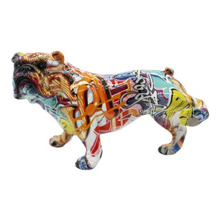 """Interior Illusions Plus Street Art Bull Dog with Leg Up - 10.5"""" long For Sale"""