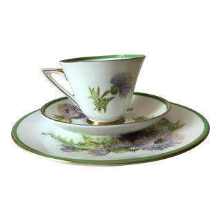 Final Price! Vintage Royal Doulton Glamis Thistle Pattern Cup, Saucer and Plate — Set of 3 For Sale