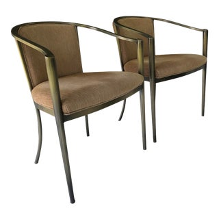 1990s Design Institute of America Dia Neutral Side Chairs - a Pair For Sale