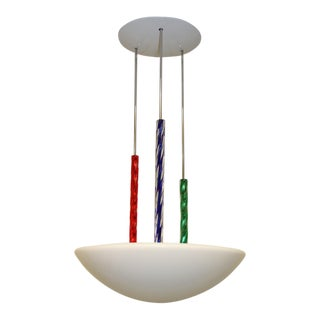 Carlo Nason for ITRE Colored Murano Glass Rod Chandelier Lamp, Mid-Century Modern For Sale