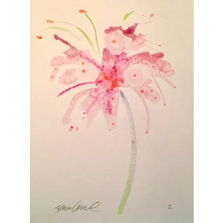 """Soft Pink Lily"" Watercolor Painting For Sale"