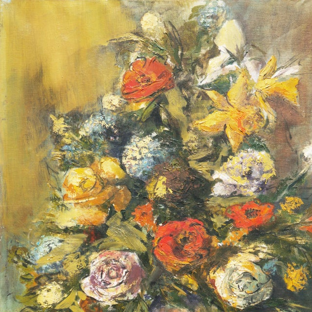 'Modernist Still-Life of Narcissus and Roses' For Sale In Monterey, CA - Image 6 of 8