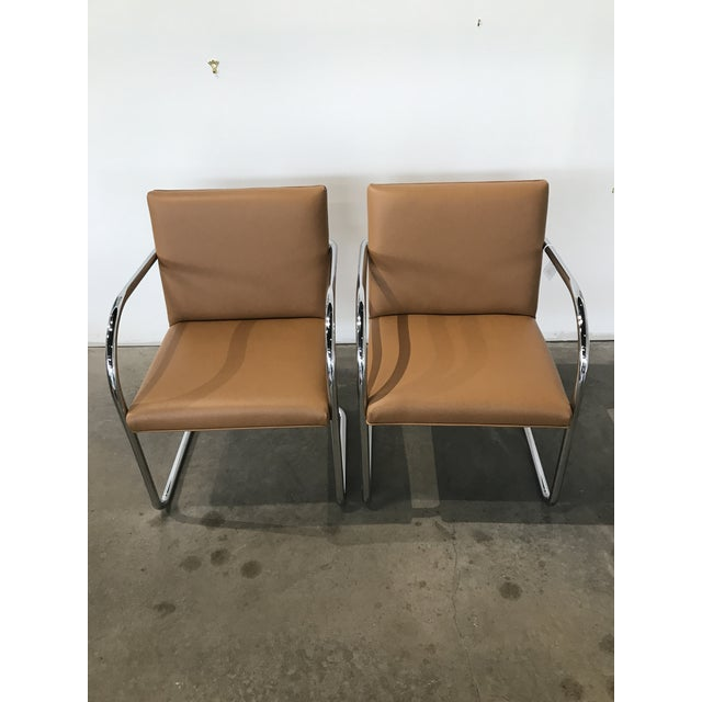1950s Mid-Century Modern Bruno Tubular Chrome Chairs - a Pair For Sale In Dallas - Image 6 of 6