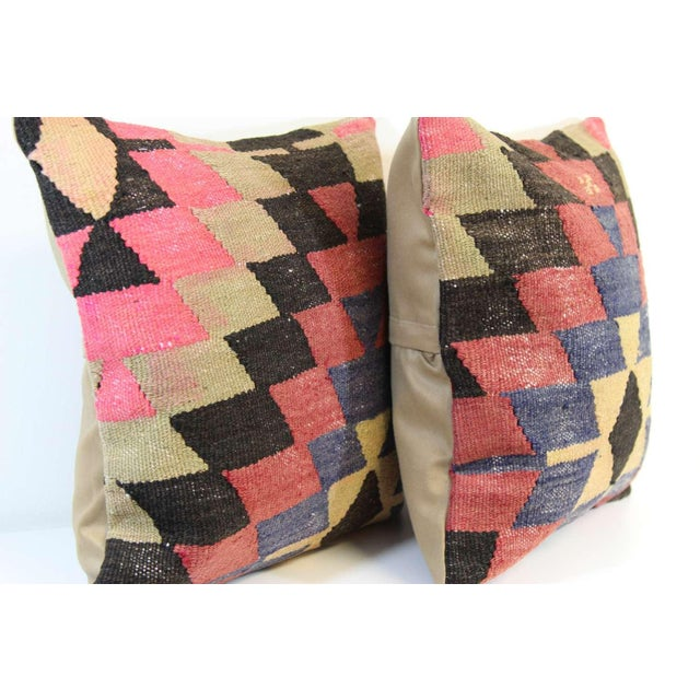 Kilim Pillow Covers - A Pair - Image 5 of 6