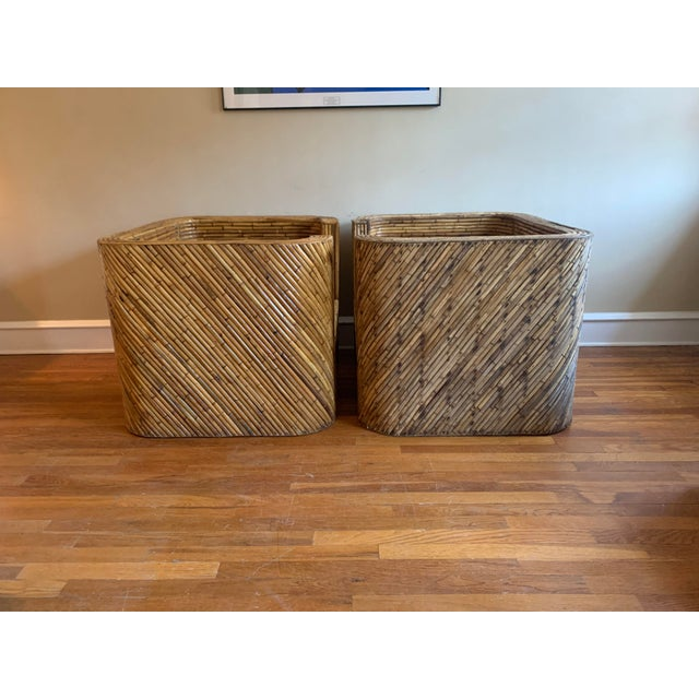 Vintage Bamboo Club Chairs - a Pair For Sale - Image 6 of 10