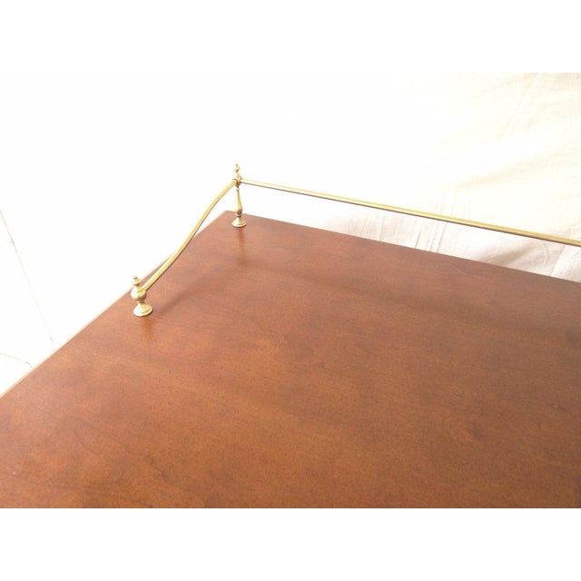 American Drew Cherry Queen Anne Sofa Hall Foyer Table Console For Sale In Philadelphia - Image 6 of 11