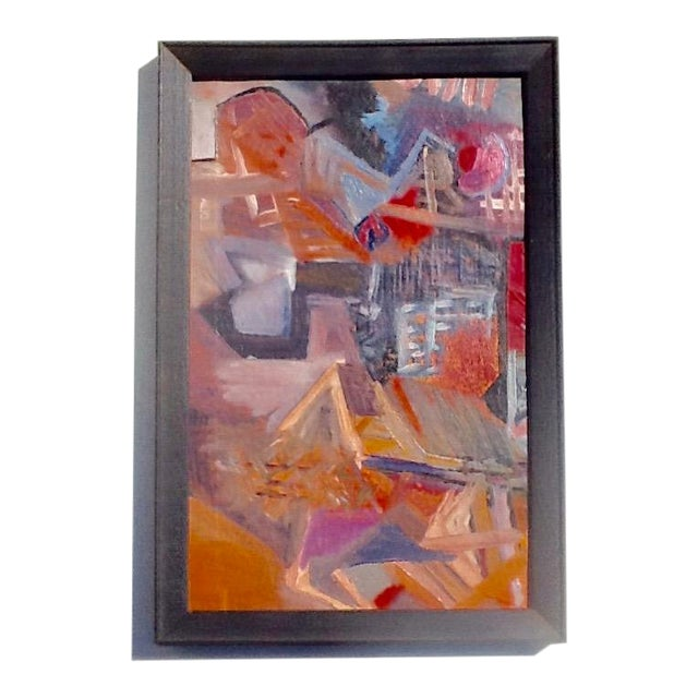 1950s Vintage European Abstract Painting For Sale