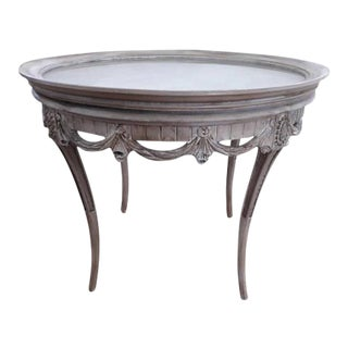 Louis XVI Style French Carved Accent Table