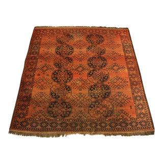 Semi-Antique Afghan Bokhara Rug - 8′ × 8′2″ For Sale