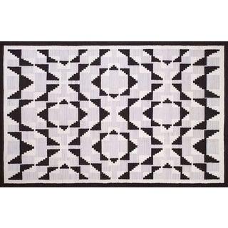 Geomertic Navajo Style Wool Rug - 10′ × 14′ For Sale