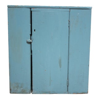 Blue Primitive Shaker Jelly Cupboard For Sale
