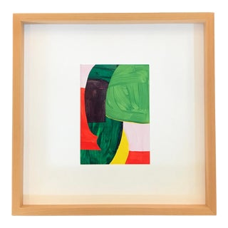 Original Abstract Collage, Framed For Sale