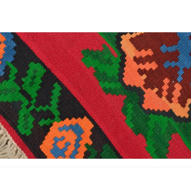Turkish Hand-Woven Wool Kilim Rug - 5′3″ × 7′5″ - Image 6 of 8