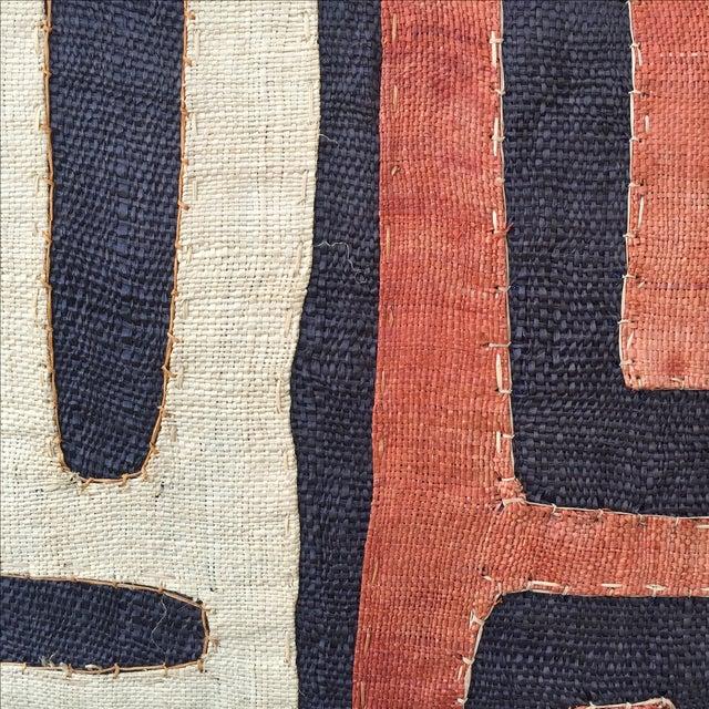 African Kuba Cloth Pillows - Pair - Image 3 of 5