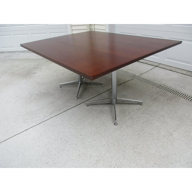 Knoll Conference Table On Double Pedestal Base Chairish - Conference table pedestal base