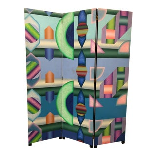Jackson Gregory Hand Painted Wall Divider