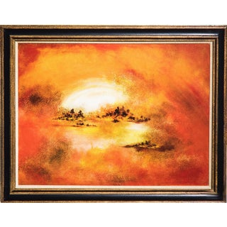 Hiroshi Honda, Sunset Oil Painting For Sale