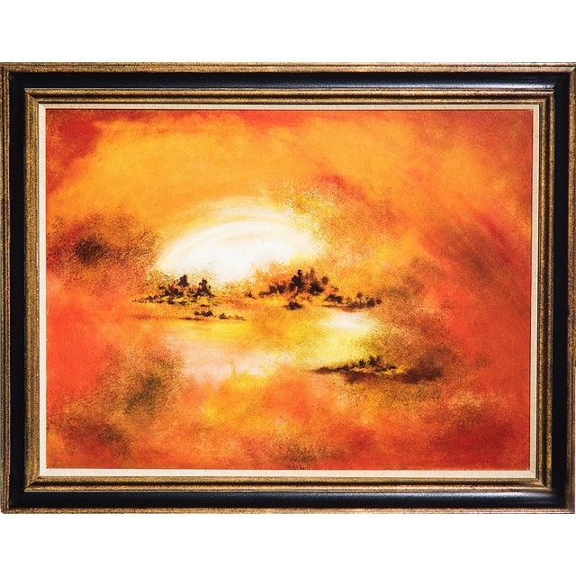 Hiroshi Honda, Sunset Oil Painting - Image 1 of 2