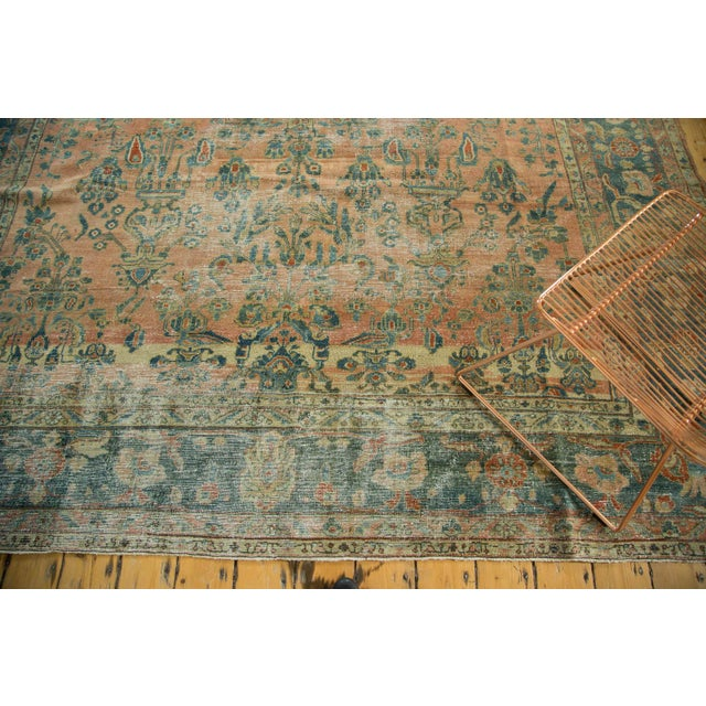 "Antique Distressed Lilihan Carpet - 9' x 11'1"" - Image 3 of 10"