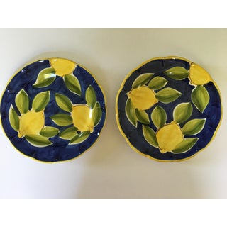Italian Hand Painted Lemon Motif Plates - a Pair Preview