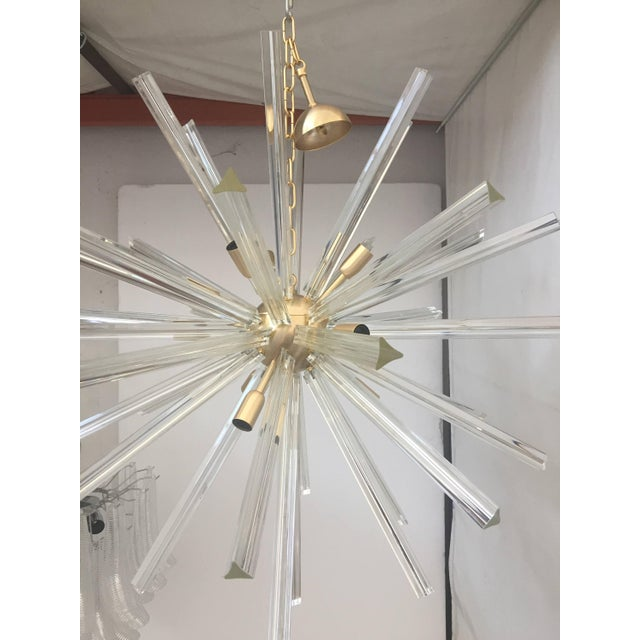 Chandelier Murano glass triedo sputnik chandelier The metal frame is in the color brushled gold all 40 cm glass rods =...