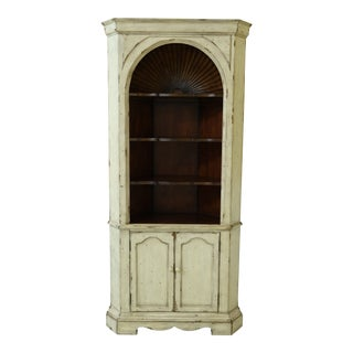 Gustavian Design Paint Decorated Corner Cabinet For Sale