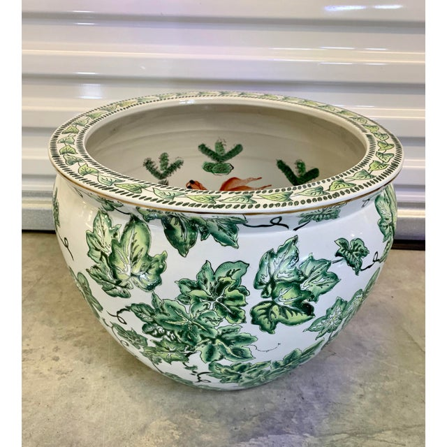 Mid 20th Century Leaf Motif Jardiniere For Sale - Image 5 of 13