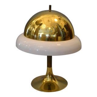 1950s Mid-Century Modern Italian Brass & Plastic Table Lamp For Sale
